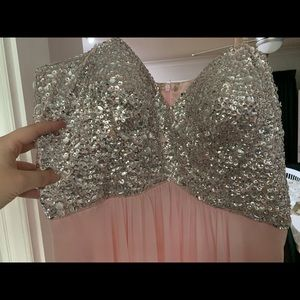Pink and Glitter Formal Dress